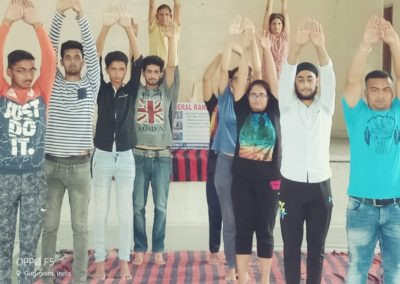 Yoga as a part of Ssb training is going on in general Ranjit academy